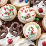 Use one sugar cookie dough recipe to make 3 different Christmas cookies! These easy ideas are perfect for kids!