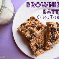 brownie batter krispie treats