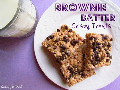 Brownie Batter Crispy Treats | Crazy for Crist