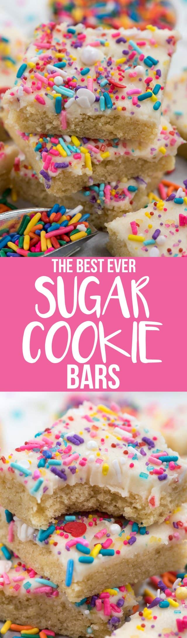 sugar cookie bar collage