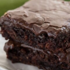 Zucchini brownies are a healthier recipe for brownies, and these are the BEST zucchini brownies ever! They're ooey, gooey, and SUPER fudgy brownies. And NO one will know they have zucchini inside!