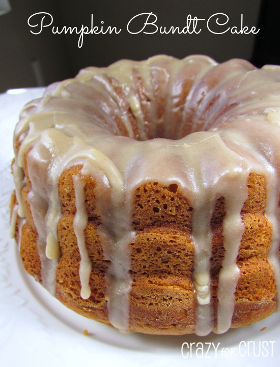 Pumpkin Bundt Cake with Browned Butter Frosting | crazyforcrust.com | #pumpkin #cake