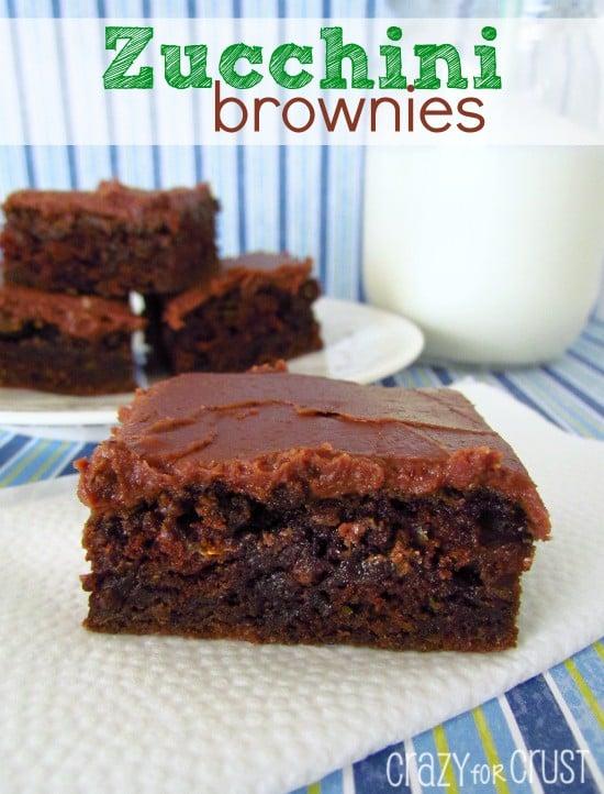 Zucchini Brownies | crazyforcrust.com | The BEST Zucchini Brownies ever! #zucchini #brownie