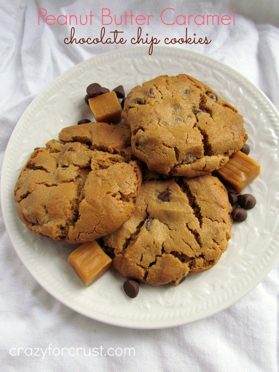 Peanut Butter Caramel Chocolate Chip Cookies