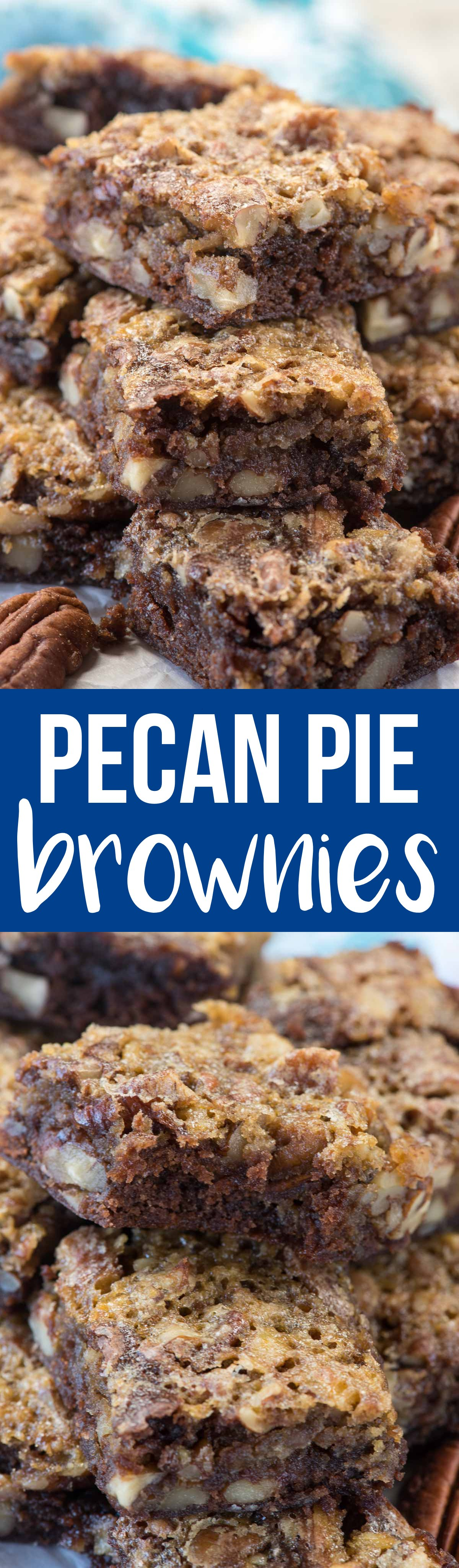 Pecan Pie Brownies are an easy way to have your pecan pie and your brownies too! These are great for a party or just because you love gooey chocolate brownies and the perfect pecan pie!