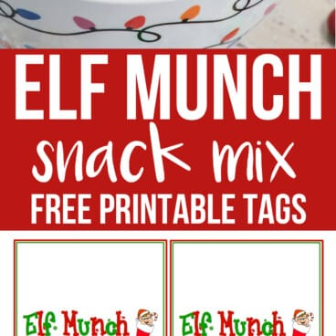 Collage of Elf Munch Chex Mix Snack