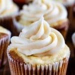 carrot cake cheesecake cupcake