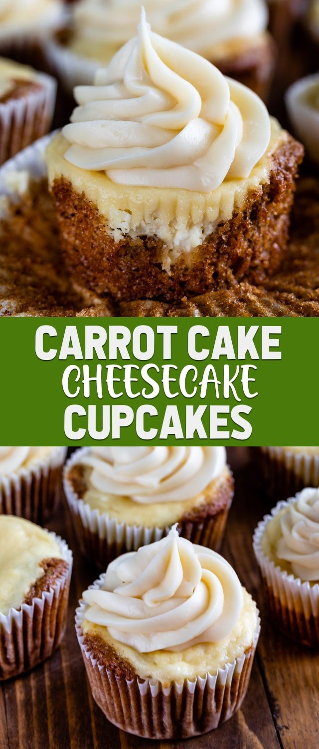 carrot cake cheesecake cupcake collage photos