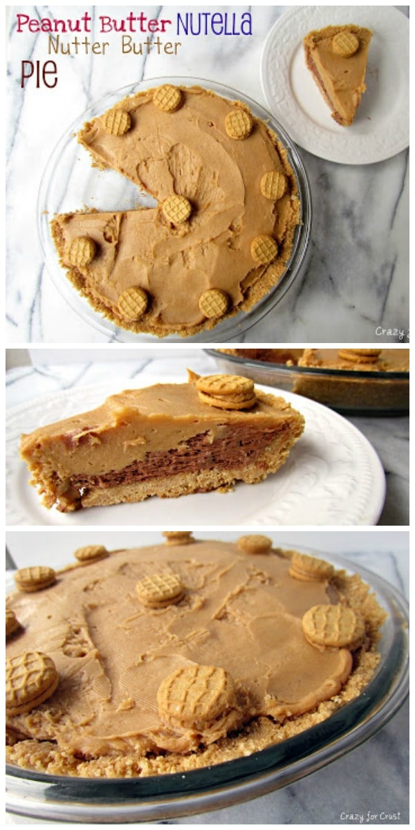 Peanut Butter Nutella Nutter Butter Pie