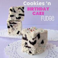 Birthday Cake Oreo Fudge