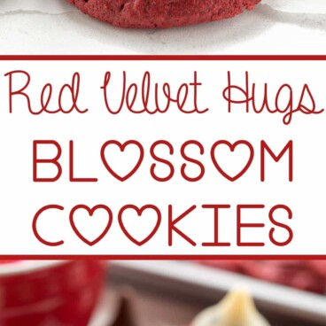 red velvet blossom cookie