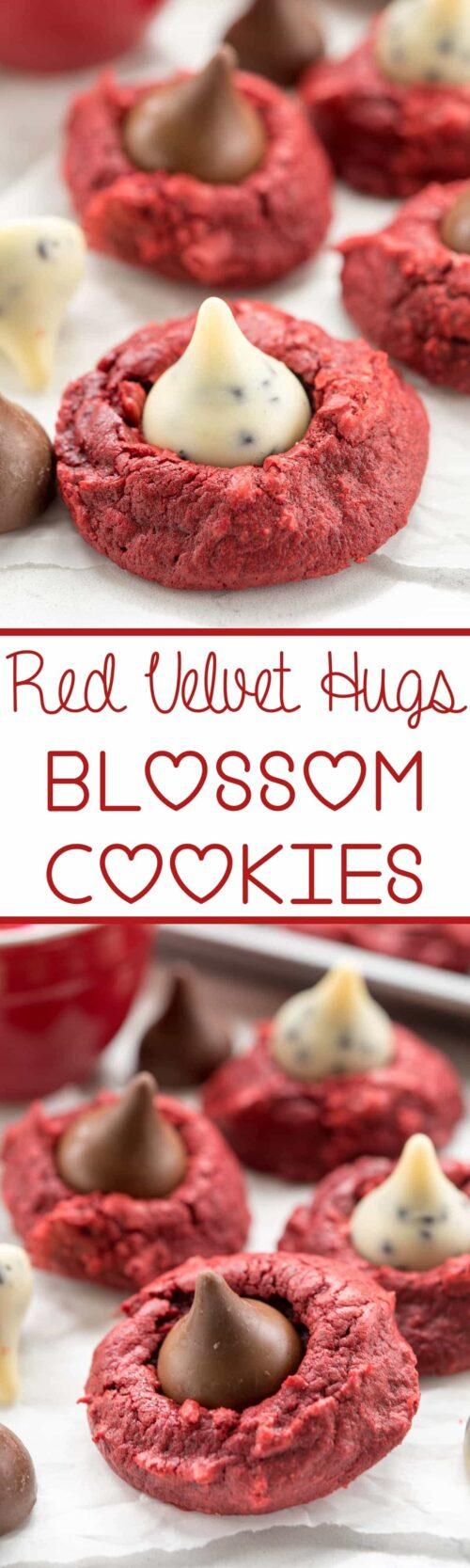 red velvet blossom cookie