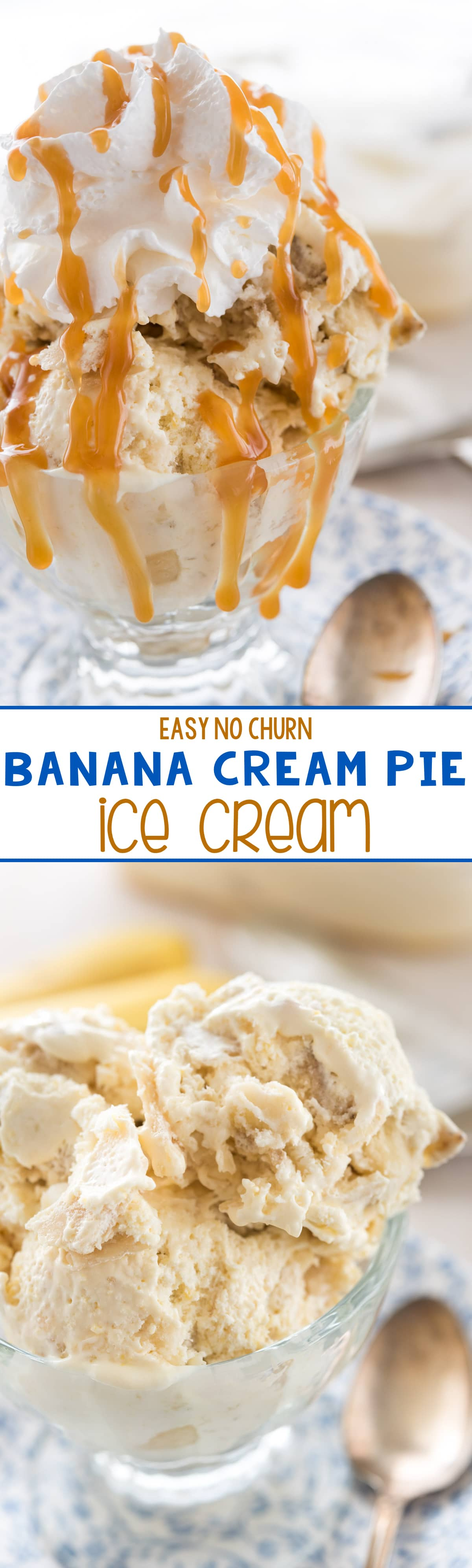Easy Banana Cream Pie Ice Cream - this No Churn Ice Cream Recipe tastes just like a DQ Blizzard!