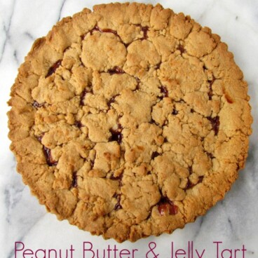 Peanut Butter & Jelly Tart | Crazy for Crust