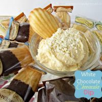 white chocolate cheesecake dip