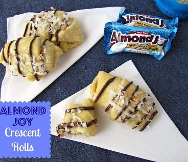 Almond joy crescent rolls with title
