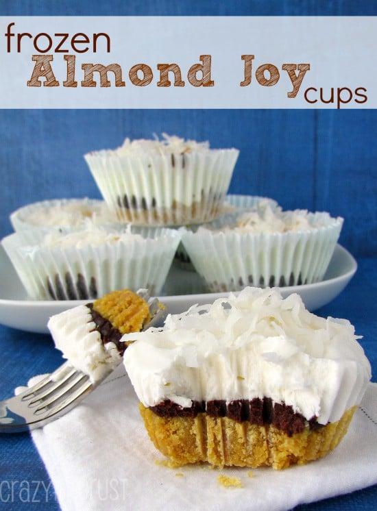 Frozen Almond Joy Mini Pies | crazyforcrust.com | #pie #nobake #almondjoy