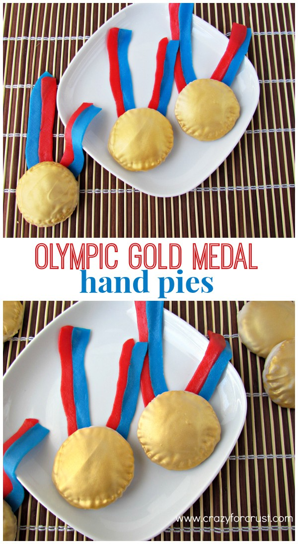 Olympic Gold Medal Hand Pies | crazyforcrust.com | The perfect way to celebrate for the Olympics!
