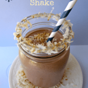 Cake batter coconut macaroon shake with title