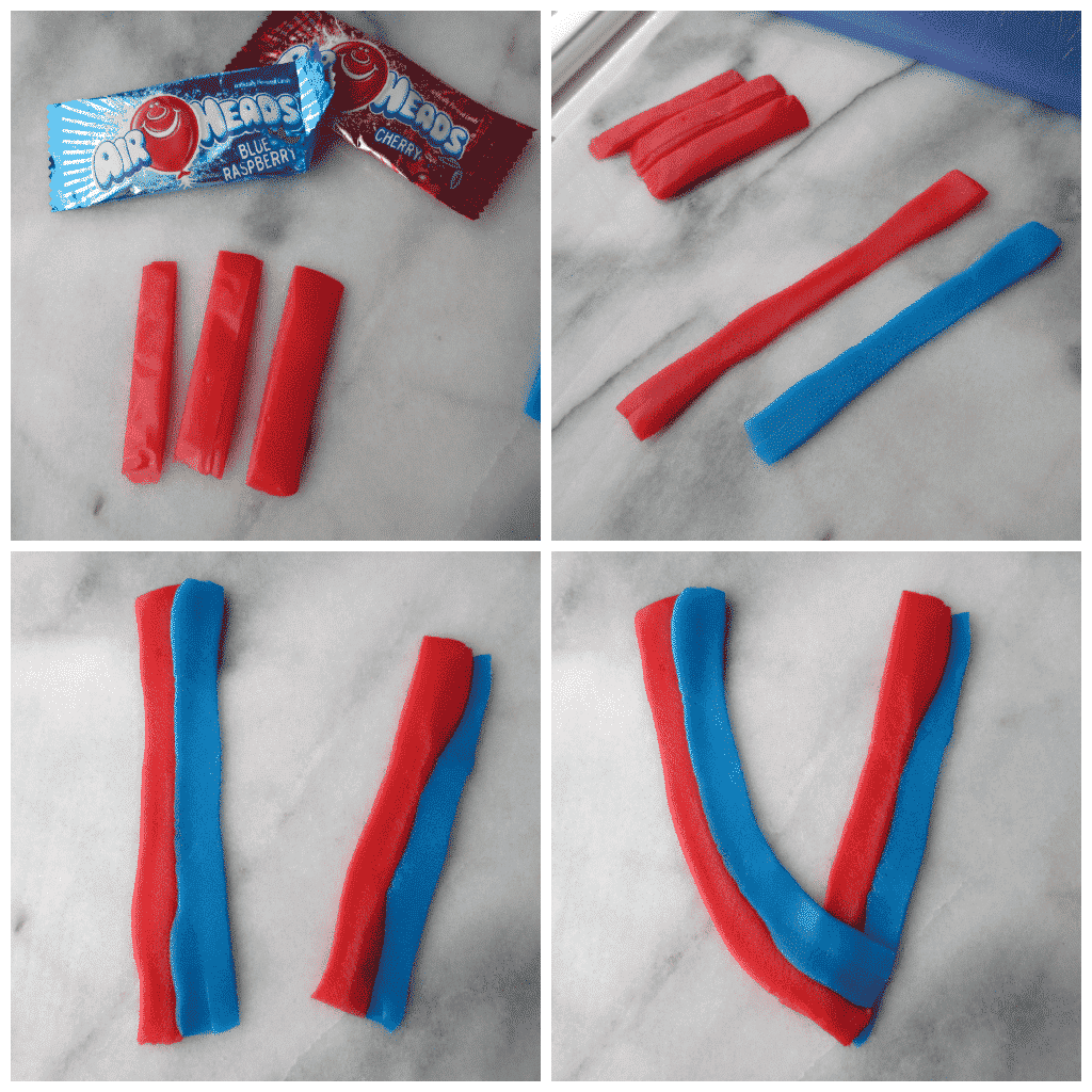 Use Airheads to mold a strap for a Gold Medal Hand Pie.