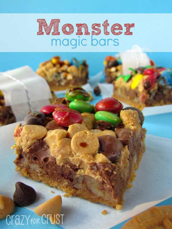 Monster Magic Bars | crazyforcrust.com | #magicbar #monster #7layer