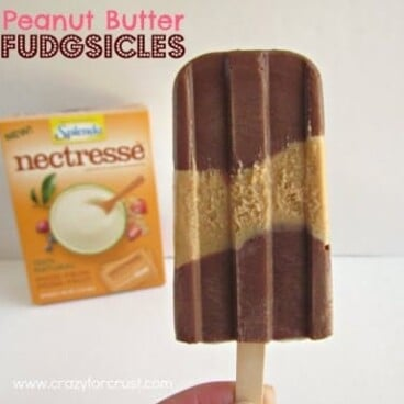 Peanut butter fudgsicle with title