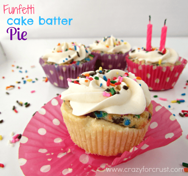 Funfetti Cake Batter Pies by crazyforcrust.com | #funfetti #pie