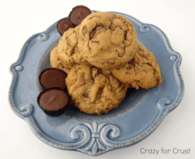 Skinnier Butterscotch Reese's Pudding Cookies | crazyforcrust.com | #cookie #Reeses #butterscotch