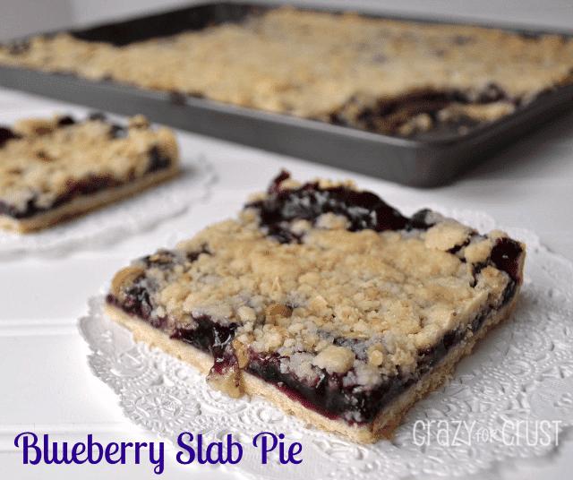 Blueberry Slab Pie | crazyforcrust.com | #pie #blueberry