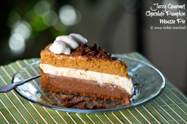 Chocolate Pumpkin Mousse Pie by Jazzy Gourmet Cooking Studio