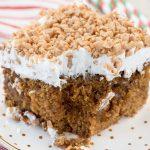 Gingerbread Poke Cake Recipe