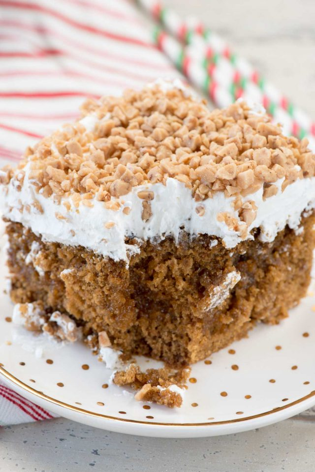 Gingerbread Poke Cake Recipe
