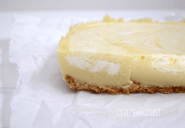 Lemon Meringue Pie Fudge on parchment paper