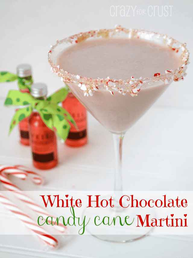 White Hot Chocolate Candy Cane Martini