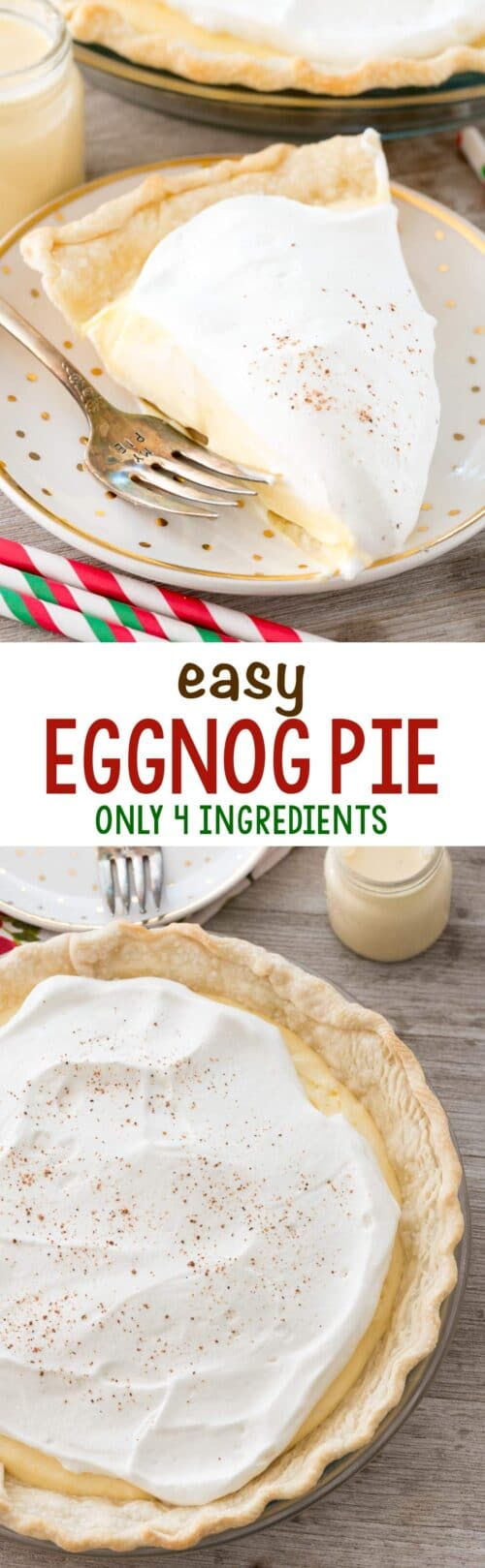 eggnog pie photos