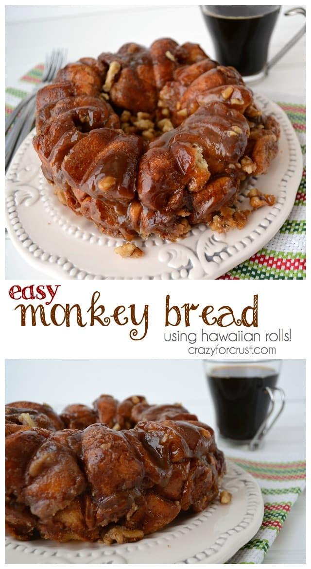 Easy Monkey Bread made using hawaiian rolls! Monkey bread for breakfast in only 30 minutes.
