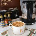 Salted Caramel Chocolate Latte by www.crazyforcrust.com #coffee #latte #caramel
