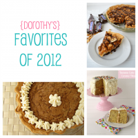 {Dorothy's} Favorites from 2012 www.crazyforcrust.com