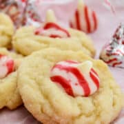 Peppermint Blossoms Cookies for Christmas