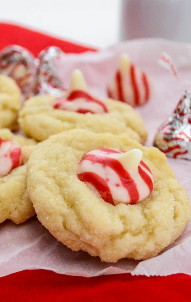 Triple White Chocolate Peppermint Blossoms