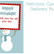 Cookie delivery gift printable.