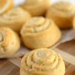 lemon sweet rolls on cutting board