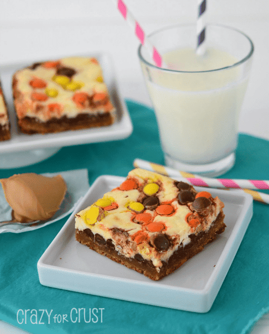 Peanut Butter Cookie Cheesecake Bars 3 words