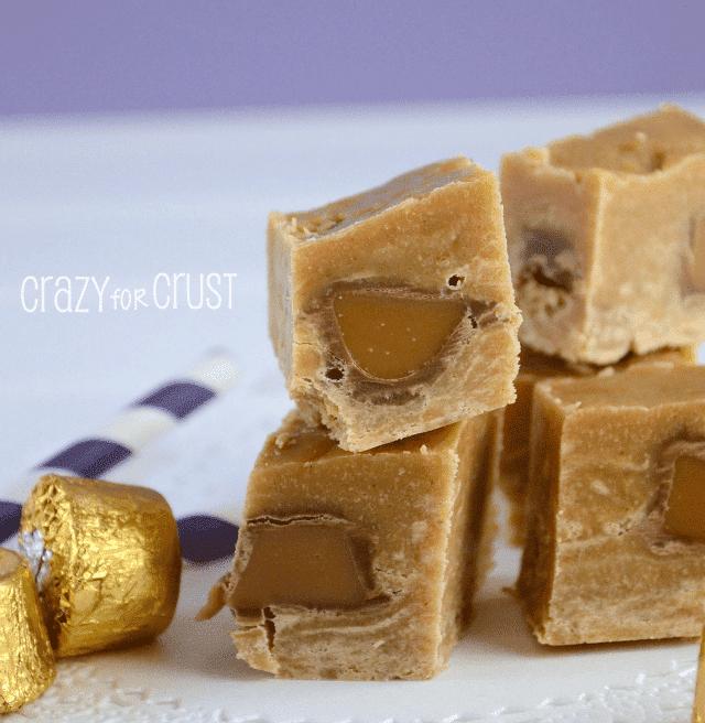 Peanut Butter Rolo Fudge