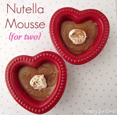Nutella Mousse for two