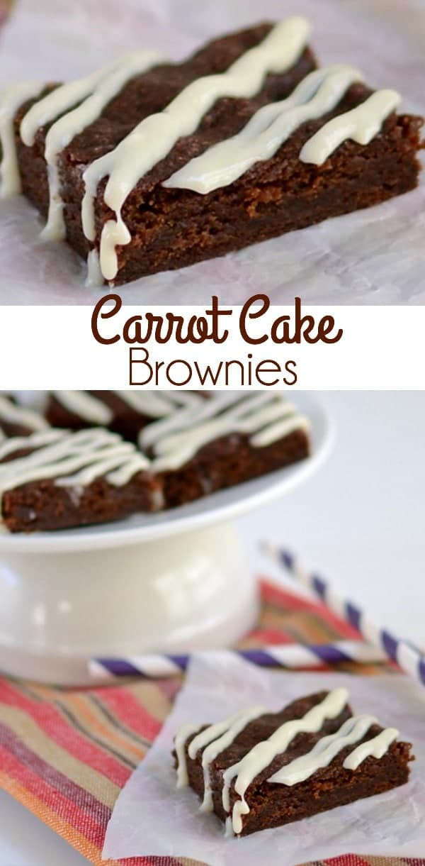 Carrot Cake Brownies Crazy For Crust