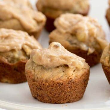 plate of peanut butter pupcakes