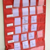 chore chart hanging 1