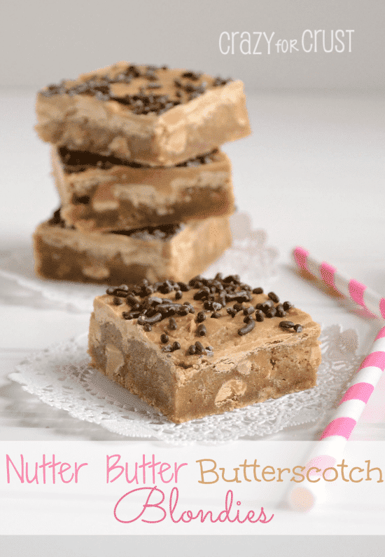 nutter butter butterscotch blondies 2 words
