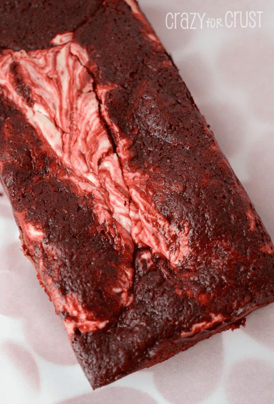 red velvet cheesecake loaf